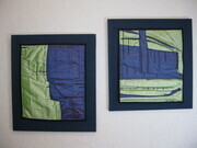 Blue Green Studies in Silk